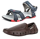 #8: Lotto Men's Combo of Sandal & Globalite Loafers