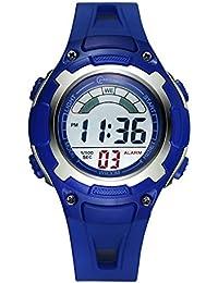 Niño] Relojes electrónicos,Relojes deportivos Estudiante Encantador] Impermeable Réplica luminosa Correa con hebilla