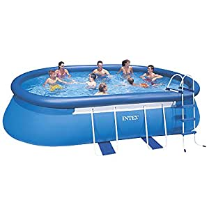 Kit piscine intex ellipse ovale intex for Piscine intex 3 66x1 22