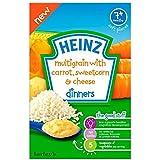 Heinz multigrains à la carotte, maïs doux et fromage Dîners 7mois + (100g) -