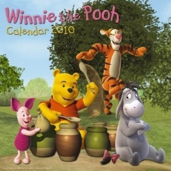 Click for larger image of 2010 Winnie the Pooh Grid Calendar