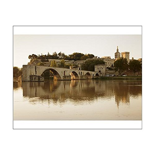 20x16 Print of Bridge St. Benezet over Rhone River with Notre Dame des Doms Cathedral and (11703026)