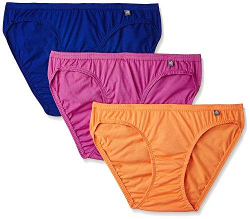 Jockey Women's Cotton Bikini (Pack of 3) (Colors May Vary)