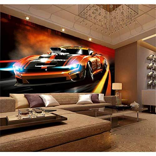 330w Auto (ZHENSI 3D Wandtattoo 3D Wallpaper Benutzerdefinierte Fototapete Wohnzimmer Wandbild Dynamische Mode Auto 3D Malerei Sofa Tv Hintergrundbild Für Wände 3D, 245 (H) × 330 (W) cm)