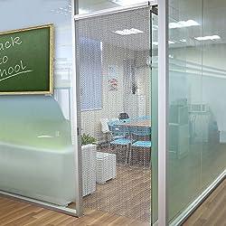 Cortina para puerta contra insectos de eslabones de aluminio, 90 x 214,5 cm