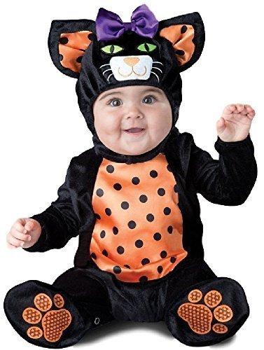 Mädchen süß schwarz Katze Halloween Horror unheimlich Kostüm Kleid Outfit 6-24 Monate - Schwarz, 18-24 Months ()