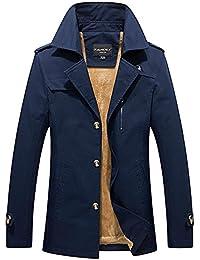 a931ee46e78c Herren Trenchcoat Jacke Elegante Wintermantel Winterjacke Winter Herbst Jacket  Mantel Jacke Männer Parka