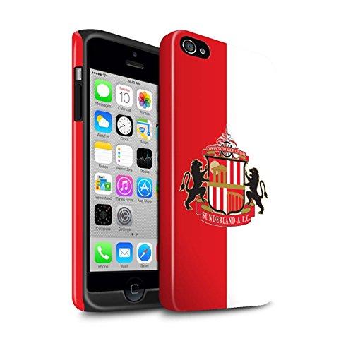 Offiziell Sunderland AFC Hülle / Glanz Harten Stoßfest Case für Apple iPhone 4/4S / Gold Muster / SAFC Fußball Crest Kollektion Rot/Weiß