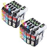 Win-Tinten Kompatibel Tintenpatronen Brother LC123 XLfür Brother MFC-J6520DW MFC-J4510DW DCP-J752DW DCP-J4110DW MFC-J470DW MFC-J870DW DCP-J552DW DCP-J132W MFC-J4410DW MFC-J6720DW Drucker (4 Schwarz + 2 Cyan + 2 Magenta +2 Gelb)