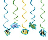 5-teiliges Decken-Deko-Set * OCEAN PARTY * für Kindergeburtstag und Mottoparty // Kinder Geburtstag Party Hanging Cutouts Motto Ozean Meer Korallenriff Fisch Schildkröte