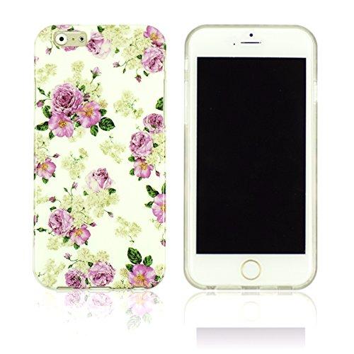 OBiDi - Designer Soft Case Cover / Housse pour Apple iPhone 6 Plus / 6S Plus (5.5)Smartphone - Paisley Skull Pattern Flower
