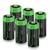 CR123A 3V Lithium-Batterie, 6 Pack 1600mAh CR123A Einwegbatterien für Fotokamera Taschenlampe Fernbedienung Mikrofon(Nicht-aufladbare)