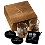 Best Crystal Ice Bags - Whiskey Stones Gift Set w/ 8 Granite Chilling Review