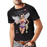 Stylotex Slimfit Fashion T-Shirt So sehn Sieger aus Girl Croatia Hrvatska Kroatien, Größe:L, Farbe:schwarz