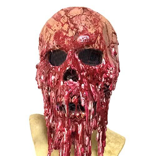 SJZC Maske Halloween Cosplay Blutstropfen Masken Latex Erwachsene Prop Kind Spielzeug