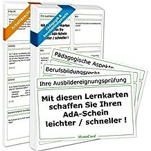 AEVO-Lernkartei: Lernkarten zu AdA-Schein, Ausbildereignungsprüfung, Ausbilderschein, Ausbildung der Ausbilder, AEVO-Prüfungsfragen, Ausbildereignungsschein