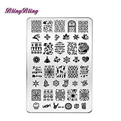 New New Year Decorations Nail Stamping Plates Konad Template Christmas Nail Art Stamp Polish Plate Stencil Manicure Decals Tools