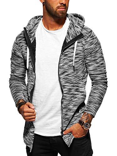 behype. Herren Strick-Jacke Sweat-Jacke Sweatshirt Hoodie Pullover mit Kapuze 40-5713 Schwarz M Strickjacke Pullover Jacke
