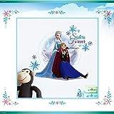 Smart Art Disney Wall Decals Frozen Wall Stickers Elsa Anna Wanddekorationen Eiskönigin Tapete zum Zuhause Schlafzimmer