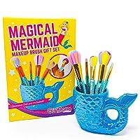 GirlZone: Fun Mermaid Makeup Brushes Kit, Great Gift for Girls