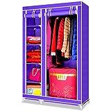 Early Bird Savings–Carcasa efecto lienzo armario ropa barra para colgar armario de almacenamiento, 110CM*45CM*175CM Purple