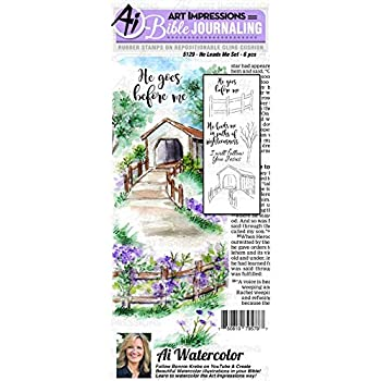 Art Impressions Bible Journaling Watercolor Rubber Stamps-as The Deer