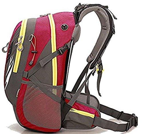 Outdoor escursionismo arrampicata zaino Zaino da ciclismo alpinismo 42L unisex high-capacity borsa da viaggio impermeabile, Uomo, blue red