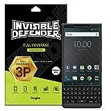 Ringke Invisible Defender Full Coverage [3 Stück] Kompatibel mit BlackBerry KEY2 Folie von Kante zu Kante Seite Schutz [Hülle Kompatibel] Kratzfest HD Klarheit Panzerfolie für BlackBerry KEY2