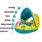 Flotador-para-beb-con-asientorespaldotecho-del-solbarca-beb-de-piscina-para-1-3-Aos-de-Edad