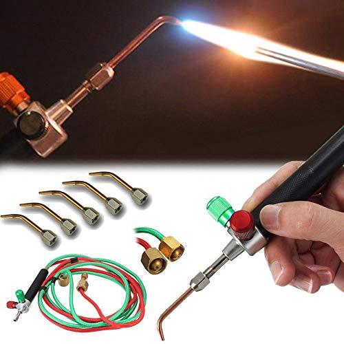 Colorful Torch Jewellers Löten Schweißen mit 5 Tipps, Schläuche Mini Gas Little Torch Schweißen Löten Kit -
