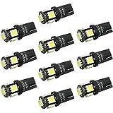 VANSSI 194 168 2825 501 W5W T10 LED 5-SMD 5050 blanco de alta potencia LED luces del coche del bulbo (Pack de 10)