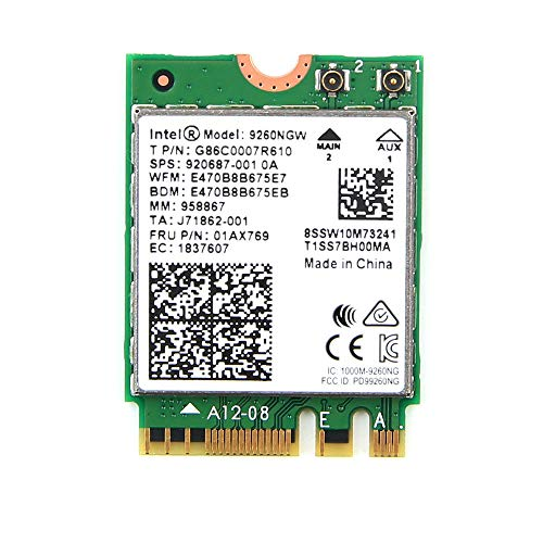 Intel Wireless-AC 9260 WLAN/Bluetooth 1730 Mbit/s