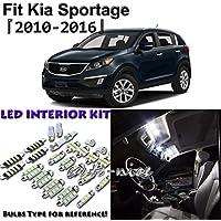 FidgetFidget - Juego de Luces LED para Interior (7 Unidades, para Kia Sportage)
