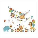 Weaeo Dschungel Abenteuer Tiere Wallpaper Wandaufkleber Für Kinder Kinderzimmer Zimmer Baby Home Decoration Zoo Anime Poster Affe Wandtattoos