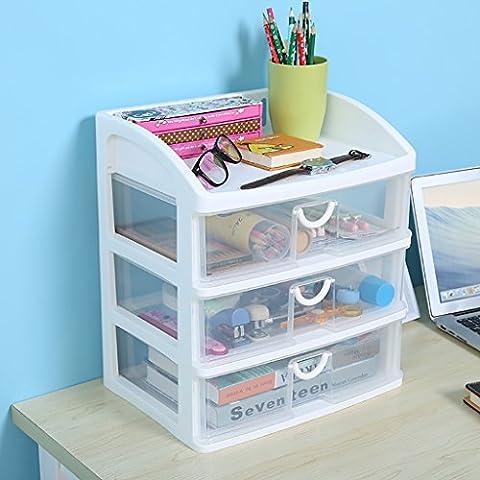 Boîte de rangement de cosmétique transparente Boîte de finition de bureau Produits de soins de la peau Racks ( Couleur : Transparent )
