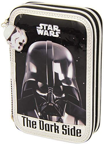 Star Wars – Plumier Doble pequeño, 34 Piezas (SAFTA 411501054)