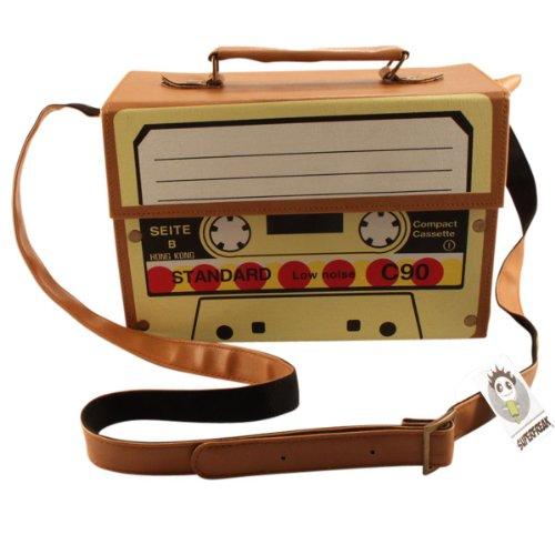 Borsa Valigia Radio Superfreak® - Cassetta ° ° Tasca La Radio Stereo Portatile, Tutti I Colori Marrone-luce
