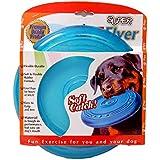 Petspal Dog Rubber Flyer Flying Disc-Large (Blue)
