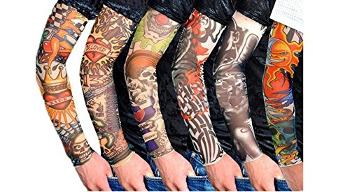 fletion-set-of-6-pcs-unisex-super-cool-body-art-arm-temporary-fake-slip-on-tattoo-sleeves-warm-stock