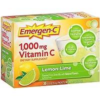 Emergen C 1,000mg Vitamin C Lemon and Lime (30 sachets, 24 nutrients) preisvergleich bei billige-tabletten.eu