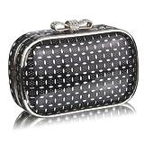 Black Crystal Evening Clutch Bag