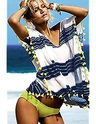 qxj Impresión Playa perchero de pared de chaqueta blusa de Bikini playa sol mujer