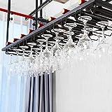 ZYM Weinregale Europäischen Stil Hängenden Glas Weinglas Halter Eisen Dekoration Bar Weinschrank Schrank Schrank Heben Getränkehalter (größe: 100 cm * 35 cm) tassenhalter