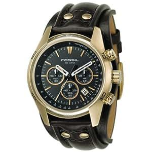 Fossil - CH2615 - Montre Homme - Quartz Chronographe - Chronomètre - Bracelet Cuir Noir