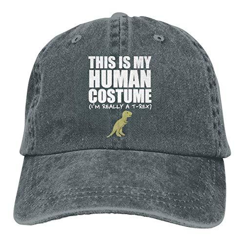 König Kind Eis Kostüm - Männer Frauen Einstellbare Vintage Jeans Baseball Caps Dies ist Mein menschliches Kostüm Ich Bin wirklich EIN T-REX Plain Cap