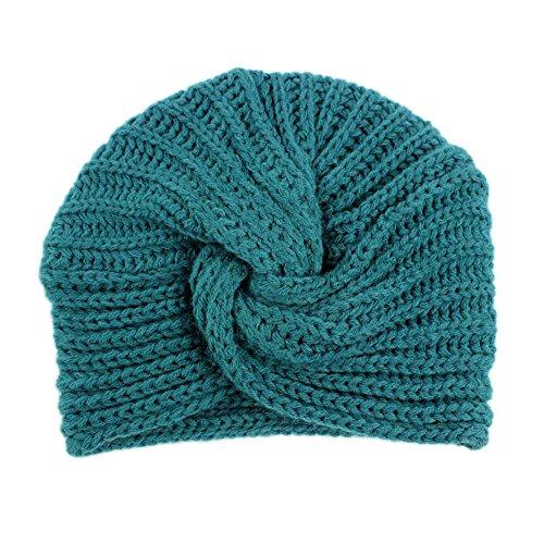 Sunnywill Kinder Baby Girls Knitting Hut Mütze Turban Head Wrap Cap pile Cap (Blue) (Blue-baby-häubchen)
