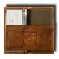 NHL New York Rangers Embossed Genuine Leather Checkbook Cover