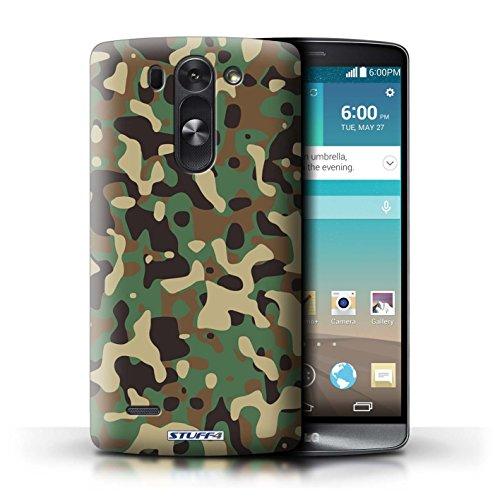 Kobalt® Imprimé Etui / Coque pour LG G3 S (Mini)/D722 / Vert 2 conception / Série Armée/Camouflage Vert 3