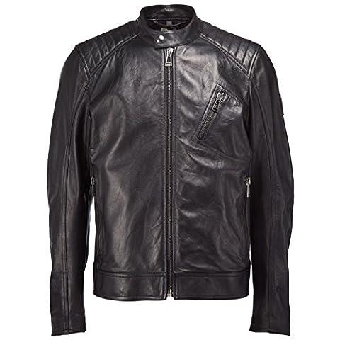 Belstaff V Racer Leather Jacket Black 40