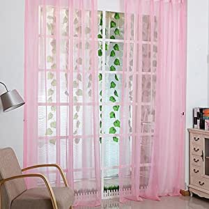 ilovediy voile t r vorhang fenster paravent schal vorhang rosa. Black Bedroom Furniture Sets. Home Design Ideas